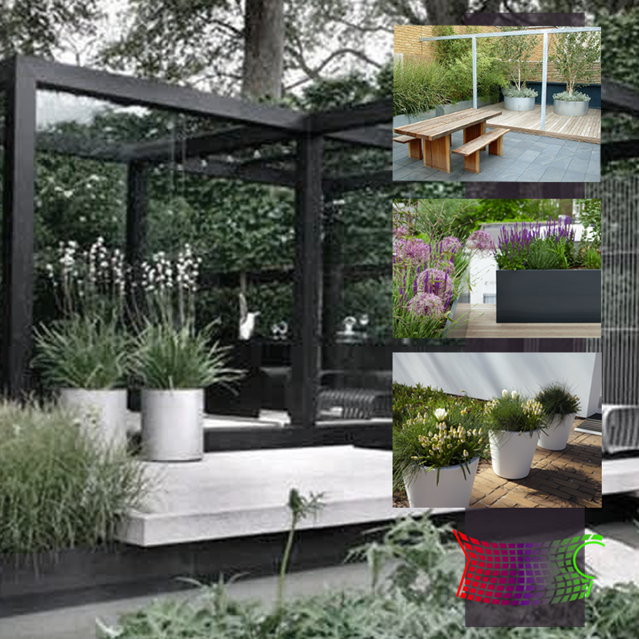 Ral4008 groentechnisch for Eenvoudige tuinontwerpen